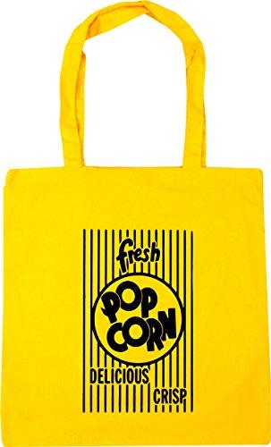 Shopping Tote Gym Fresh Yellow 42cm Popcorn x38cm litres Bag Beach 10 HippoWarehouse qW1U7txn1