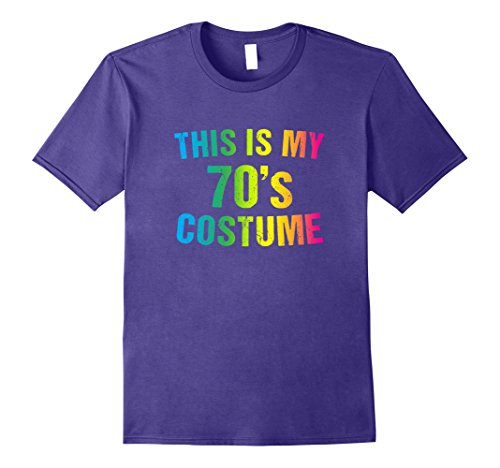 Mens 70s Costume Halloween T Shirt 1970s for Men Women Girls XL Purple