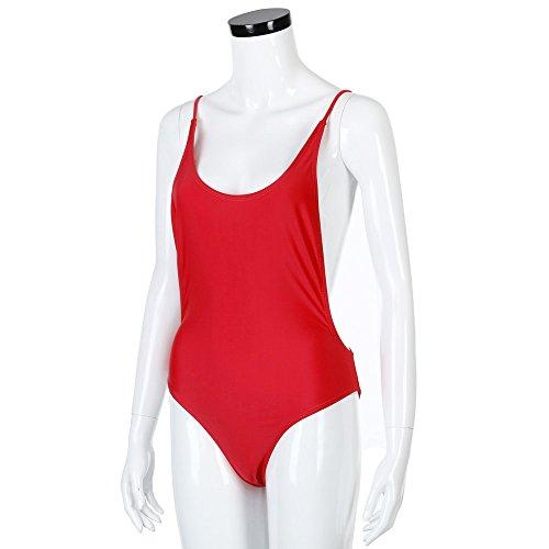 Monokini costumi Rosso Sexy da High Backless Tinta swimsuit Weant Donna Up un Bagno Donna di Cut Donna mare Sexy Monokini benda unita Monokini Donna pezzo brasiliana Bikini Push intero 7qqfC6Ugw