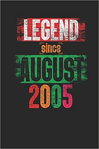 Legend Since August 2005 Small Lined Notebook 14th