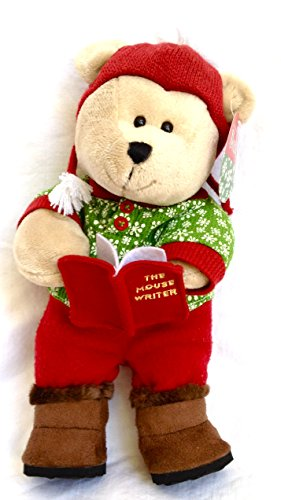 "2010 Starbucks Bearista 10"" Plush Holiday ""The Mouse Writer"" Bear"