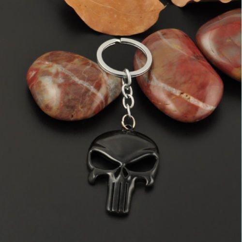 Skull Mask Metal Keyring Keychain - Legends Of India Kong Hong