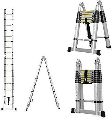 Escalera plegable de AutoBaBa, multiusos, de aluminio, telescópica: Amazon.es: Coche y moto