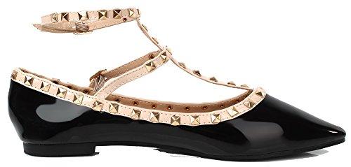 Shoes Creux Femme Ballerines D Plat Boucle AgeeMi Escarpins UvFAwxF