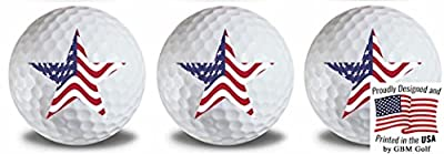 GBM Golf American Flag5 Golf Balls 3 Pack
