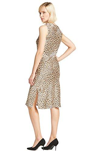 LILYSILK Vestido Mujer Estampado Leopardo 100% Seda Natural 22MM Punto Leopardo