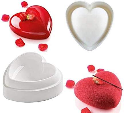 pastel VOANZO Molde de silicona en forma de coraz/ón Molde de silicona 3D para hornear para manualidades de chocolate Love-228ml pud/ín jab/ón hecho a mano