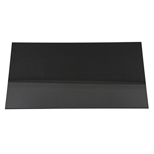 ReliaBot 3K Full Carbon Fiber Sheet 200mm x 300mm x 2mm Plain Weave Panel Plate Thickness 2mm (Glossy Surface) by ReliaBot