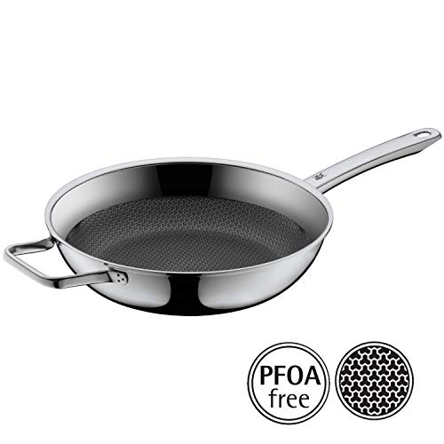 WMF Profi Resist Frying Pan Diameter 28 cm high, Stainless Steel with Handle Coated Honeycomb Structure for Induction Frying Pan (Wmf Honey)