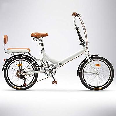 TXTC Bici Plegable, Bicicleta Mujer, Variable De 20 Pulgadas Rueda ...