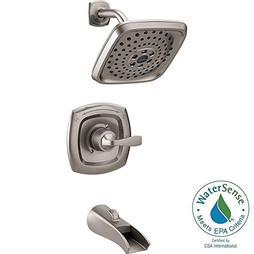 Delta 144724 SS Tolva Single Handle H2O Kinetic Tub And Shower Faucet Best