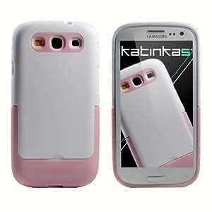 Katinkas -  Carcasa para Samsung Galaxy S3, color blanco y rosa