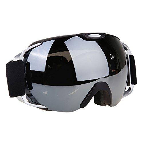 VILISUN 스키 고글 스노 보드 고글 REVO밀러・구면 더블 렌즈 자외선 컷 안경 대응 흐림금지 내충격/방진/방풍/방설 슬라이딩금지 3 층스펀지 스노보드 스키・등산・아웃도어 아이 어른