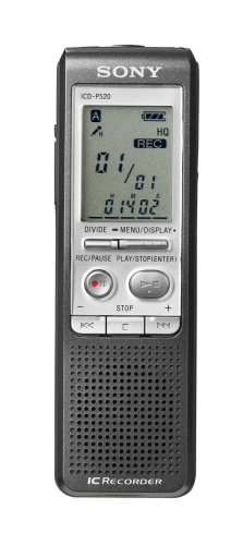 Sony ICD-P520 Digital Voice Recorder with 256 MB Built-in Flash Memory and USB