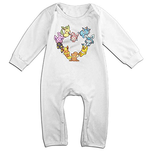 Ahey Babys Eevee Family Heart Long Sleeve Bodysuit Outfits 12 Months