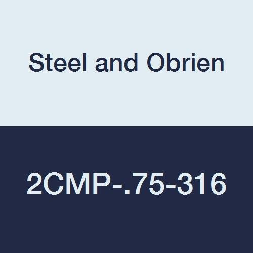 Steel and Obrien 2CMP-.75-316 Stainless Steel Clamp, 90 degree Elbow, 3/4