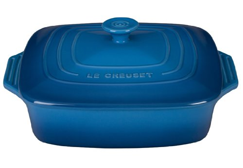 Le Creuset Stoneware Covered Square Casserole, 9.5-Inch, Marseille by Le Creuset