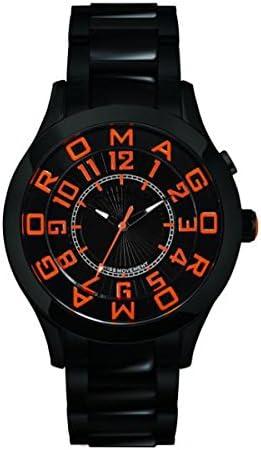 ロマゴデザイン アトラクションシリーズ クオーツ メンズ 腕時計 RM015-0162SS-LUOR ブラック/オレンジ [並行輸入品]