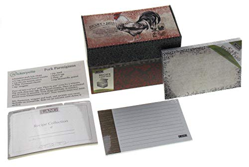 (Lang Cardinal Rooster Recipe Box Bundled with Extra Recipe Cards - Design by Susan Winget (2 Bonus Recipes Included from Hickoryville))