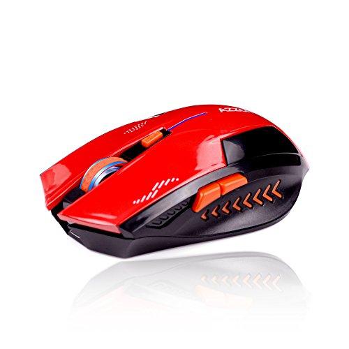 KLIM Azzor Kabellose Gamer Maus 2400 DPI - High Precision - Lautlose Klicks