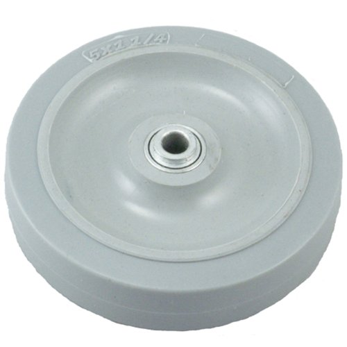 "Propane Buffer Rubber Wheel TRG-511-06-BB, Fits Pioneer Propane Buffers , 5"" Diameter, Gray"