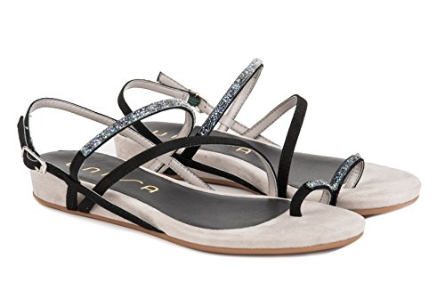 UNISA Calzature Sandalo Donna Amo KS Black PE17