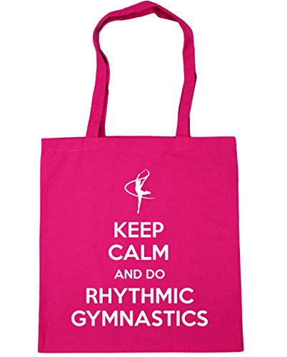 litres Gymnastics Fuchsia Beach Shopping 10 x38cm Keep 42cm HippoWarehouse Gymnast Calm Do Bag Gym Tote and Rhythmic XTxZFaU