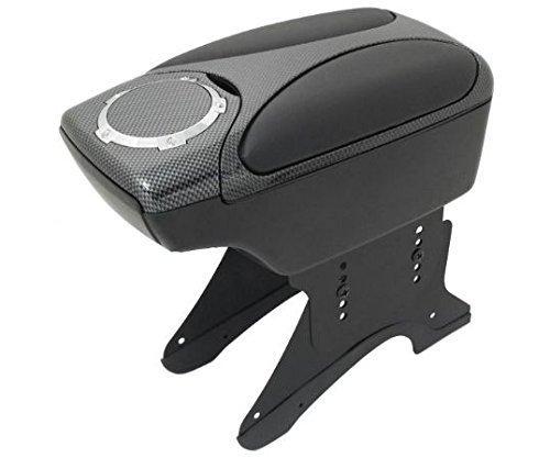 flexzon Universal Calidad Brazo Resto Apoyabrazos Centro Consola Aspecto de Carbono Coche Auto