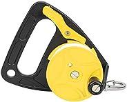 Diving Reel, White Diving Line Wheel 150ft Dive Reel Diving Line Reel Multi Purpose with Handle for Kayaking f