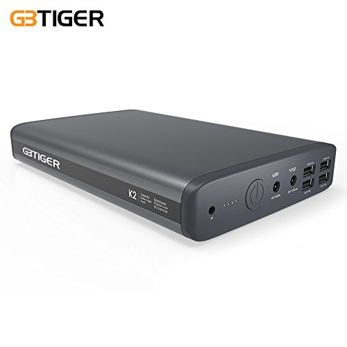 [Upgrade] GBTIGER 50000mAh K2 6 Port(5/12/20v) Portable Charger Laptop External Battery with 14 Connector for Most of Sony Dell HP Samsung Lenovo Acer Laptop Notebook&Phones (Not for Apple Laptop) by GBTIGER
