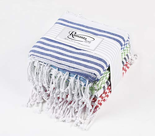 Ramanta Home 6PackFouta Beach Towel (1pc in Each six Color)- Multi