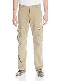 Wrangler Authentics Mens Premium Relaxed Straight Twill Cargo Pant