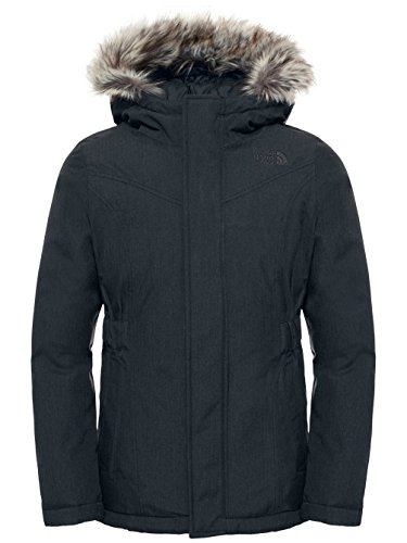 The North Face Girls Greenland Down Parka Jacket color: TNF BLACK / GRAPHITE GREY size: XX-Small (5 Little Kids) by The North Face