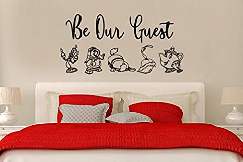 Inspired by Beauty and the Beast Wall Decal Sticker Be Our Guest! (Beauty Beast Decal)