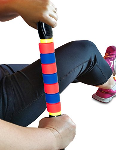 Premium Muscle Roller the Ultimate Massage Roller Stick 18 Inches Recommended By Physical Therapists Promotes Recovery Fast Relief For Cramps Soreness Tight Muscles