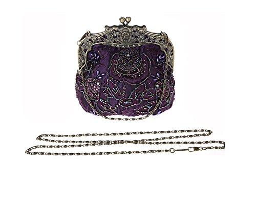 Purple Broderie Sac De Sacs De Browncolor Diamant De Main Sac D'embrayage Femmes Nuptiale Perles Sac à Sac De Mariage Cheongsam De GSHGA Bpd1xwqzx