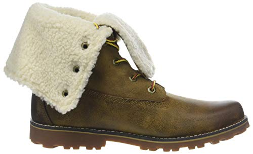 P01 Botas Unisex Authentics Full 6 Waterproof Marrón Niños Shearling In Medium Grain Brown Timberland YXOwpO