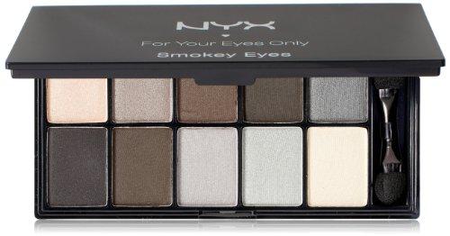 NYX Cosmetics Palette Ombre à Paupières 10 couleurs, yeux charbonneux, 0,49 onces