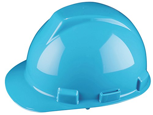 Dynamic Safety HP741/06 Tremblant Hard Hat with 4-Point Nylon Suspension and Pin Lock Adjustment, ANSI Type I, One Size, Light (Light Blue Type)