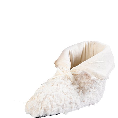 Ladies Luxury Slenderella Fluffy Slippers Boots Faux Fur With Anti Slip Sole Champagne e4uszQ8