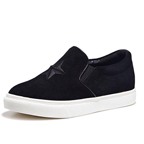 Zapatos de primavera Lok Fu/Estrellas femenino ronda pies zapatillas de tapas/Zapatos ocasionales de las mujeres/escoge los zapatos A