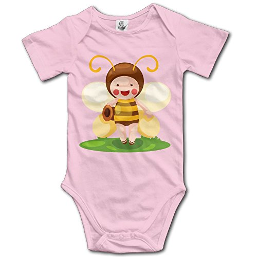 Unisex Baby's Climbing Clothes Set Bee Sprite Bodysuits Romper Short Sleeved Light Onesies for 0-24 Months