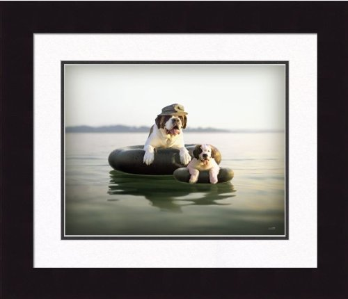 Ron Schmidt Framed Photograph - Pa and Pea