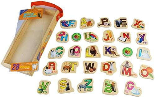 SN Toy Zone High Quality Wooden Magnetic Stcikers- ABC Theme(1 Fancy Gel Pen Free)