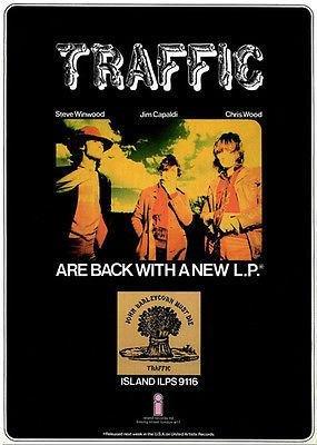 - Traffic - John Barleycorn Must Die - 1970 - Album Release Promo Poster
