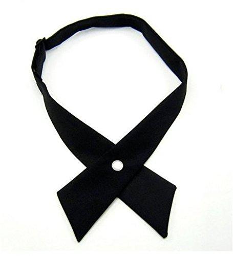 Tie for Men Women,Nodykka Pre Tied Adjustable Cross Tie Criss-Cross Bowtie for Girl ()