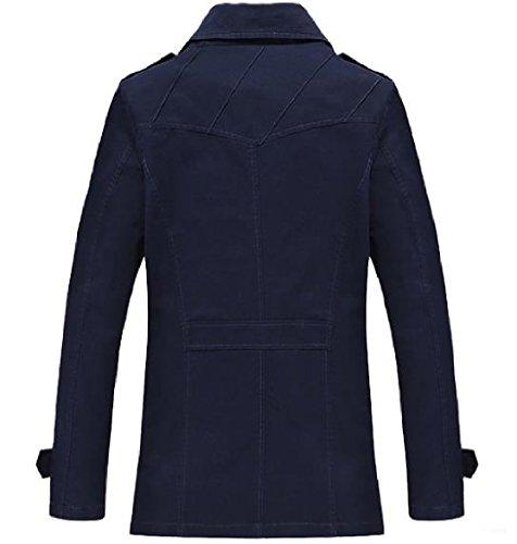 Davanti Blu Navy Outwear A Mens Forma Aperta Abbottonata Vento Giacca Howme Della Silm Classico fwUAnq0