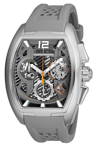 Men's 'S1 Rally' Quartz Stainless Steel and Silicone Watch, Color:Grey (Model: ) - Invicta 26885