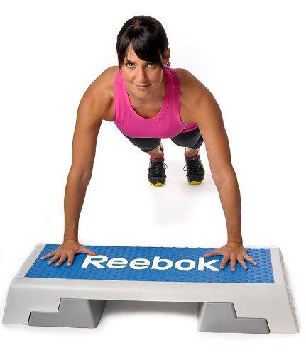 Reebok Step 95x 35x 15cm, negro / gris azul & blanco