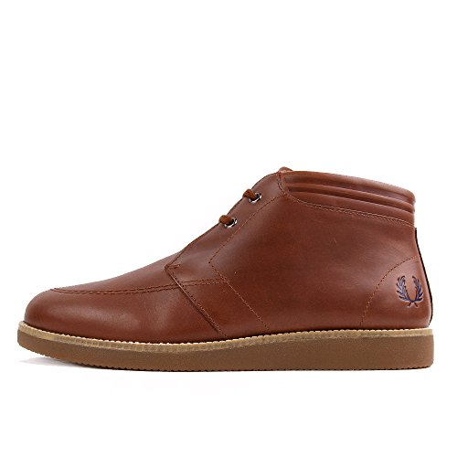 Fred Perry Southall Mid Leather Chestnut Brown